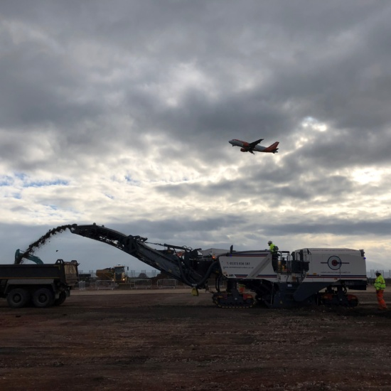 Connor Construction (South West) Ltd planing at Bristol Airport