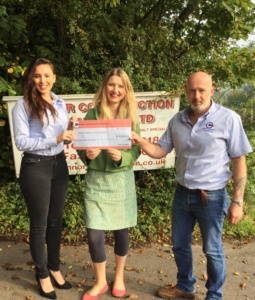 Connor Construction (South West) Ltd raise £400 for Active & In Touch Frome